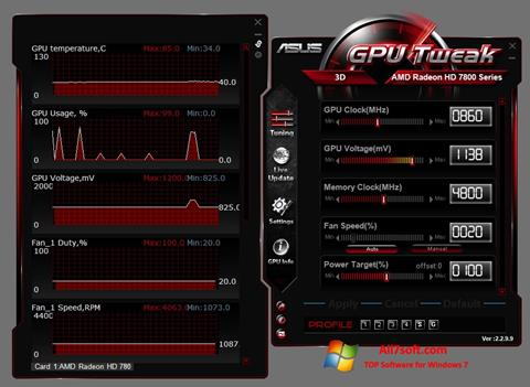 Screenshot ASUS GPU Tweak Windows 7