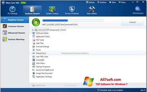 Screenshot Wise Care 365 Windows 7