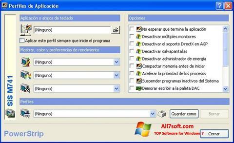 Screenshot PowerStrip Windows 7