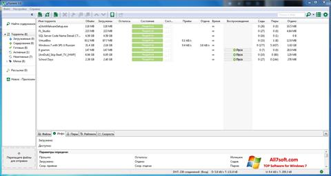 Screenshot uTorrent Windows 7