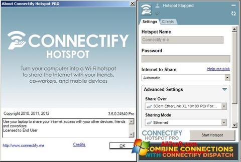 Screenshot Connectify Windows 7