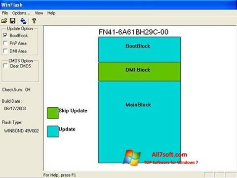 Screenshot WinFlash Windows 7