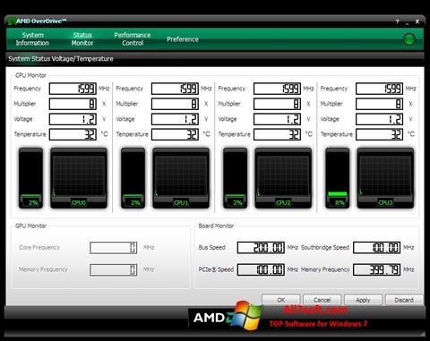 Screenshot AMD Overdrive Windows 7
